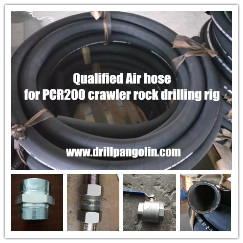 air hose for connecting air compressor and crawler drilling rigs