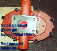 air motor (rotary gear motor) of ingersoll rand cm351 pneumatic crawler rock drilling rigs