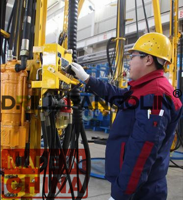 vertical shaft drilling jumbo with pneumatic drifter_drillpangolin