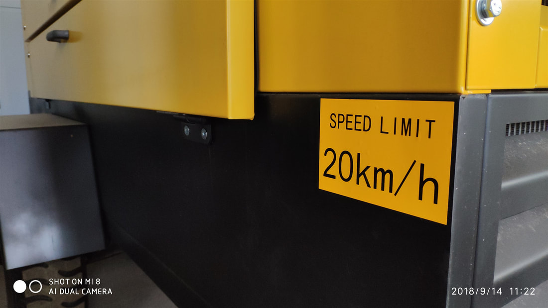 20km/h is the traveling speed for this air compressor