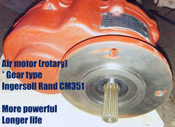 air motor rotary gear motor of ingersoll rand cm351 pneumatic crawler drilling rigs