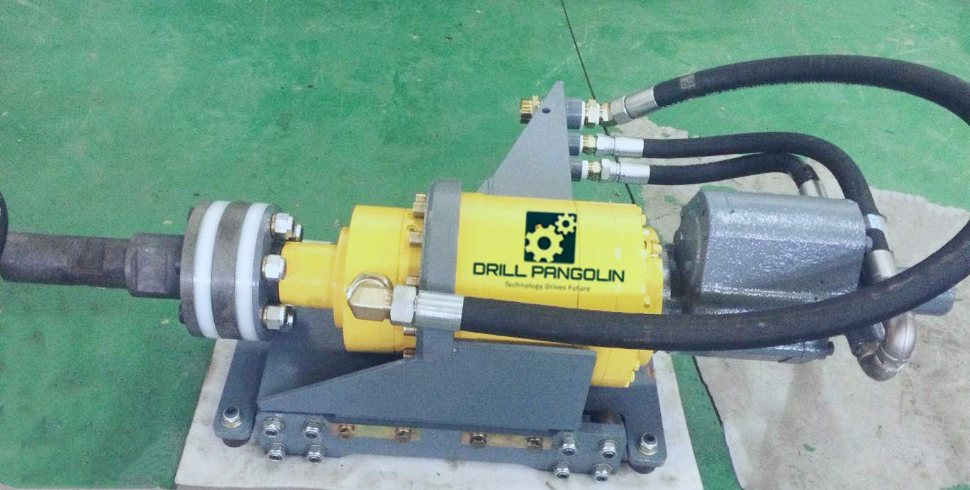 Rotary head assembly- Ingersoll Rand CM351 and Atlas Copco AirRoc D40 D50 DTH pneumatic crawler rock drilling rig
